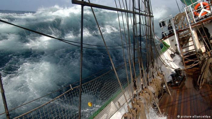 More u Magellanovom tjesnacu sa palube suvremenog jedrenjaka Alexander von Humbolt