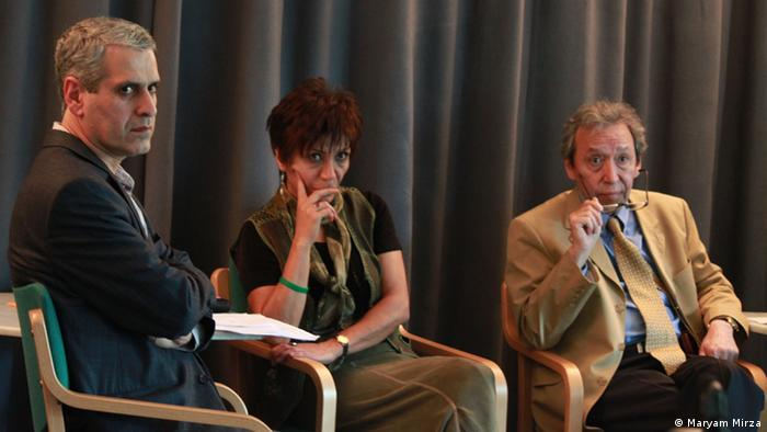 سهراب رزاقی، منصوره شجاعی و کاظم کردوانی (از چپ به راست)