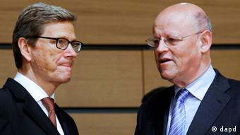 Westerwelle and Rosenthal at today's meeting