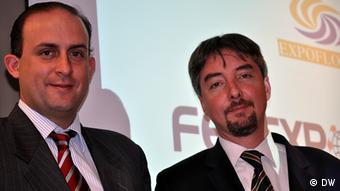 Felipe Ribadeneira, Vorsitzender Fedesxpor und Alejandro Martínez, Expoflores