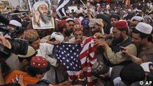 Pakistan Quetta Anti-amerikanische Proteste 2012 Pro Obama