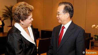 Dilma Rousseff und Wen Jiabao (Foto: Reuters)