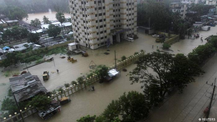 A submerged street in Chittagong, June 26, 2012.