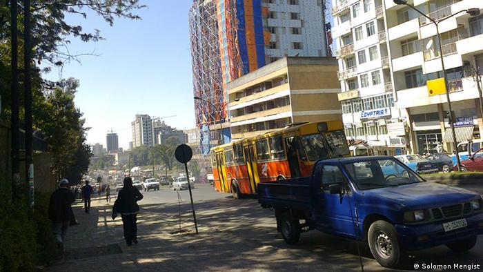 Blick aus meinem Fenster Addis Abeba Äthiopien