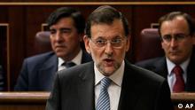 Mariano Rajoy Premierminister Spanien Rede im Parlament