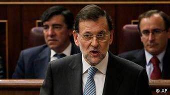 Mariano Rajoy Premierminister Spanien Rede im Parlament
