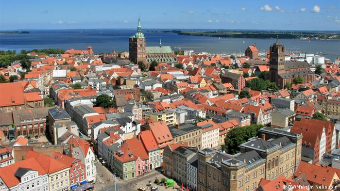The medieval layout of Stralsund town center, pictured here, has remained largely unchanged over the centuries.