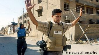 Journalistenarbeit in Nadschaf