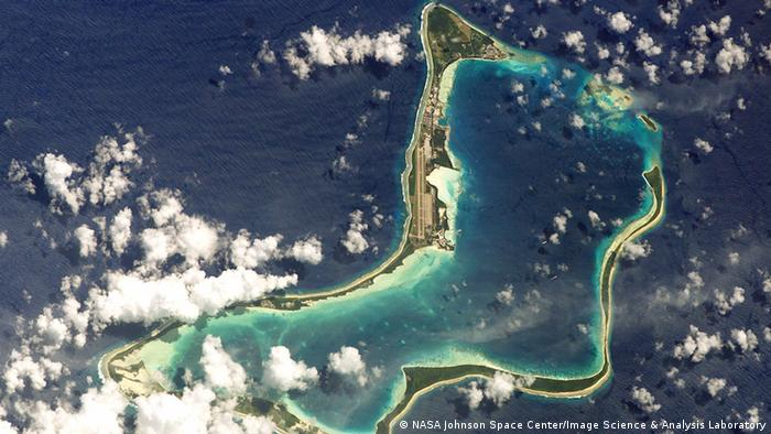 Insel Atoll Diego Garcia (NASA Johnson Space Center/Image Science & Analysis Laboratory)