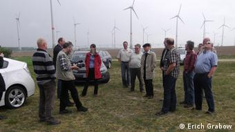 Citizens in the village of Schlalach in Germany, who have come together to help plan a wind farm (Photo: Erich Grabow)