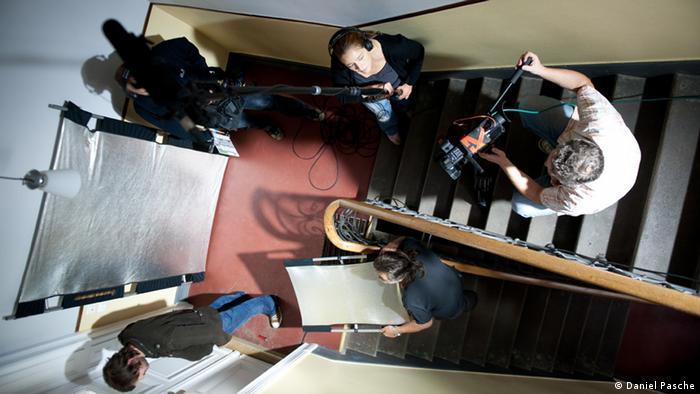 Drehen im Treppenhaus