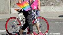 Homosexualität Fahrrad Regenbogen