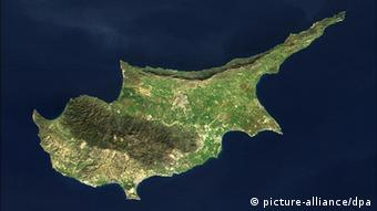 View of entire island of Cyprus Photo: NASA Modis