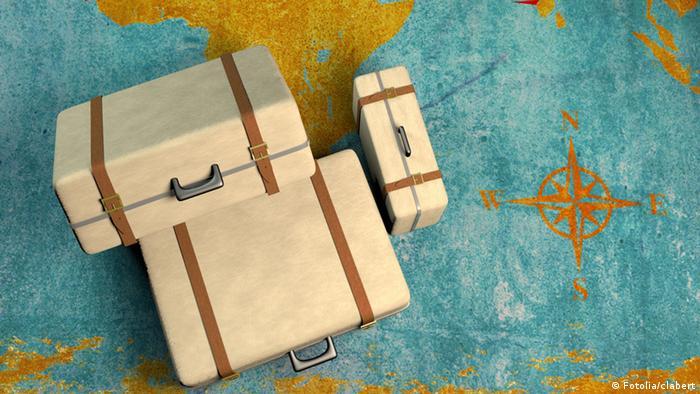 Symbolbild Koffer Auswanderung Einwanderung Reise Immigration Migrant (Fotolia/clabert)