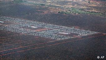 Parts of Dadaab, the world's largest refugee camp, are seen from a helicopter in northern Kenya