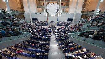 Interior of the Bundestag Foto: Maurizio Gambarini dpa/lbn