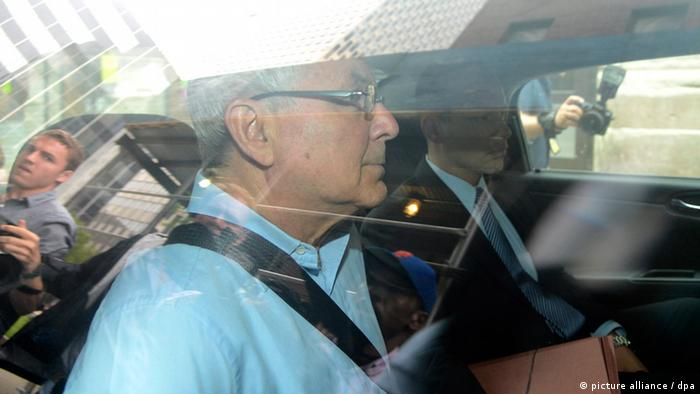 Peter Madoff is driven to Federal Court after being arrested by FBI agents in New York