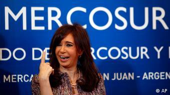 MERCOSUR Argentinien Präsidentin Cristina Fernandez