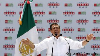 Mexikos Präsident Enrique Peña Nieto im Wahlkampf 2012 (Foto: dpa)
