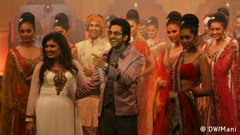 Bollywood Actor Ayushman Khurana with models taking part in a fashon show in Kolkata, India