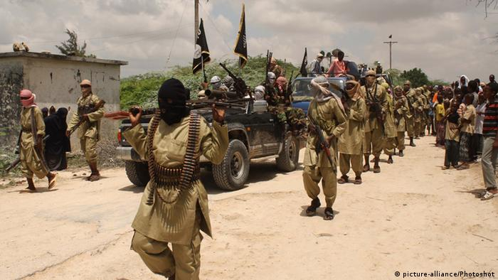 Pro-Palestinian Islamist militia demonstration in Somalia