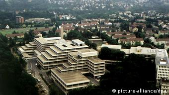 Aerial view of the Federal Criminal Police Agency complex of buildings