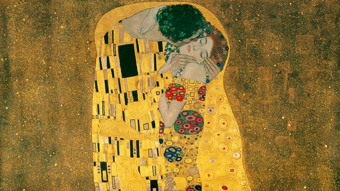 Closeup of Gustav Klimt's Kiss Copyright: Belvedere Wien/Basiliscus Production