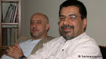 کریستف رضاعی (چپ) به همراه محمدرضا علیقلی