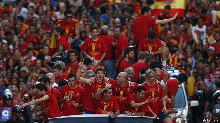 Empfang der spanischen Fußball-Europameister 2012 in Madrid. Foto: Reuters