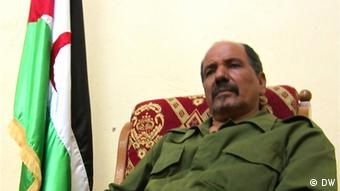 Mohamed Abdelaziz president of the Sahara Arab Democratic Republic