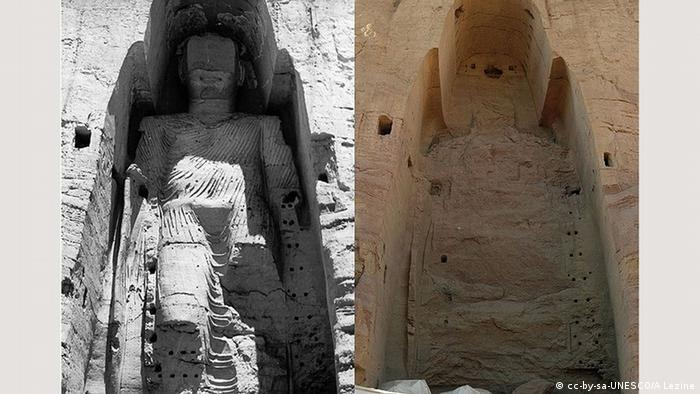 UNESCO World Heritage Site Buddha of Bamiyan statue destroyed by the Taliban (cc-by-sa-UNESCO/A Lezine)