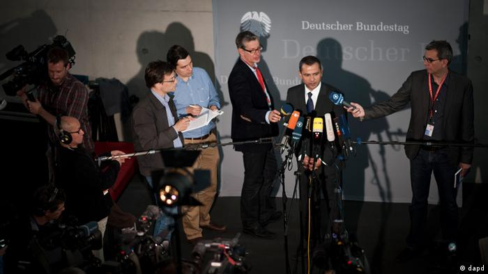 members of the parliamentary committee on neo-Nazi activity in Thuringia