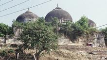 1990 Unruhen vor der Babri-Moschee vor der Zerstörung 1992