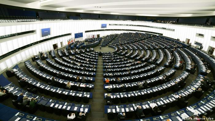 Blick in den Plenarsaal des Europaparlaments.Photo: Francois Lafite/Wostok Press/Maxppp