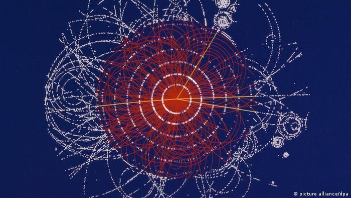 Die Illustration zeigt den Zerfall eines Higgs-Boson (Grafik: CERN/dpa)