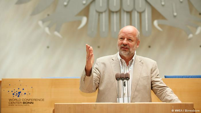 Hans-Josef Fell, MDEP Energieexperte der Grünen (Foto: WWEA/ Andreas Birresborn).