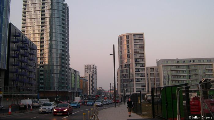 Entrance to Stratford City in East London