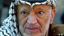 Palestinian leader Yasser Arafat pauses during an emergency cabinet session, at his compound, in the West Bank town of Ramallah in this Saturday, Oct. 2, 2004 file photo. Late Wednesday, Oct. 27, 2004, Arafat's health deteriorated and his doctors rushed to his room to examine him, an official in Arafat's office said. Soon after, Palestinian Prime Minister Ahmed Qureia and former Prime Minister Mahmoud Abbas were summoned to Arafat's compound, the official said. (AP Photo/Muhammed Muheisen)