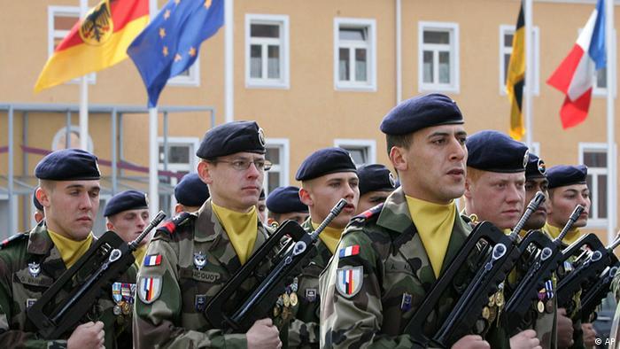 Pripadnici njemačko-francuske brigade