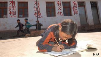China Armut Schule Schulkinder