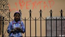 Honduras Lenca Frau Protest Demonstration