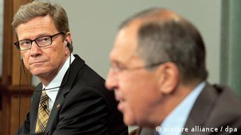 Außenminister Guido Westerwelle (FDP, l) und sein russischer Amtskollege Sergej Lawrow in Moskau (Foto:dp)
