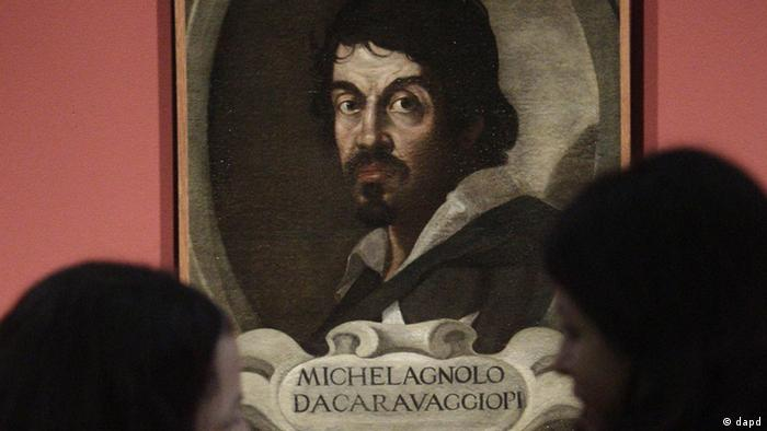 Porträt des Barockmalers Caravaggio in einem Museum in Rom (dapd)