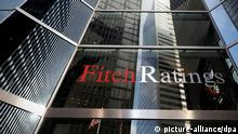 Firmenschild Ratingagentur Fitch New York USA