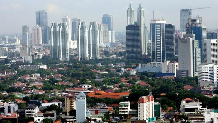 A general view of Jakarta's residential district