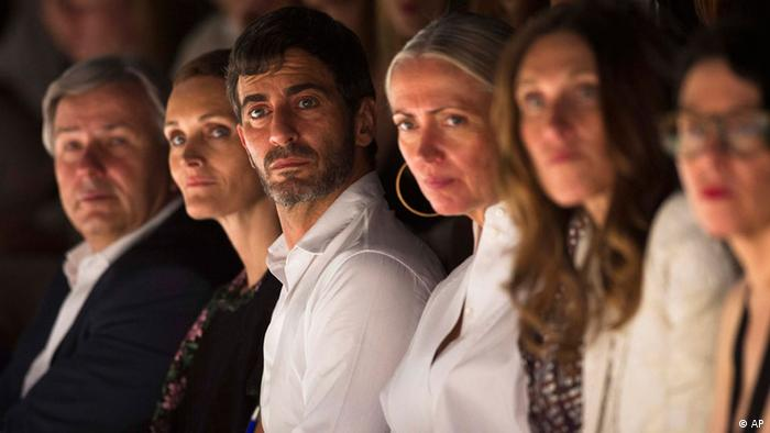 Designer Marc Jacobs, 3. from left, attends the Designers For Tomorrow show at the Fashion Week for spring summer 2013 in Berlin, Wednesday, July 4, 2012. (Foto:Markus Schreiber/AP/dapd)