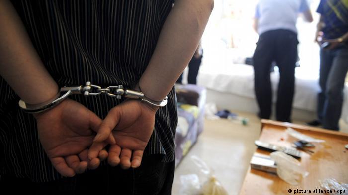 Handschellen Verhaftung