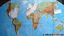Visitenkarten Weltkarte