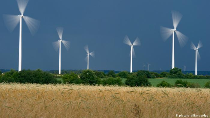 Windenergiepark Brandenburg Deutschland