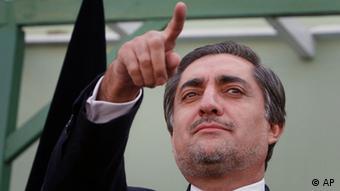 Abdullah Abdullah in Kabul (Photo: AP Photo/Musadeq Sadeq)